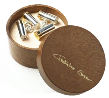 Cufflinks Cartridges Silver Plated