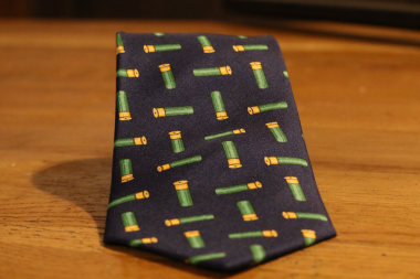 Silk Tie With Multiple Cartridge Print