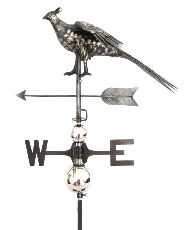Pheasant Weathervane with Garden Stake