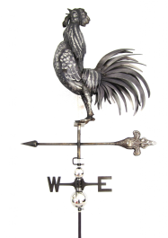Crowing Cock Weathervane with Garden Stake