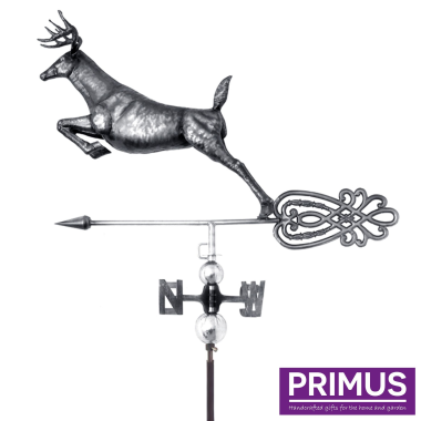 3D Leaping Deer Weathervane with Garden Stake