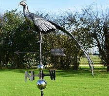 3D Elegant Peacock Weathervane with Garden Stake