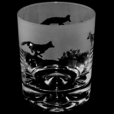 Whisky Tumbler Engraved Fox