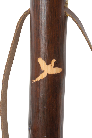 Hiking Staff with Pheasant Motif