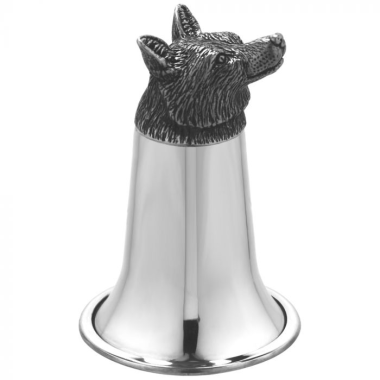 Fox Head Pewter Stirrup Cup