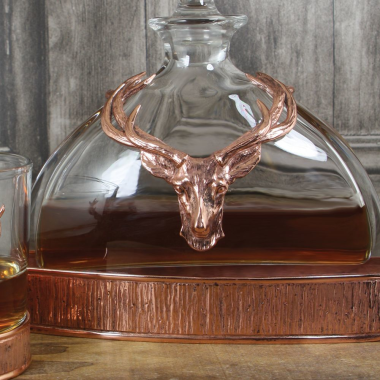570ml Majestic Stag Copper Decanter