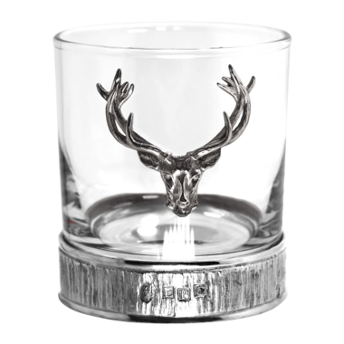 11oz Pewter Majestic Stag Tumbler Double
