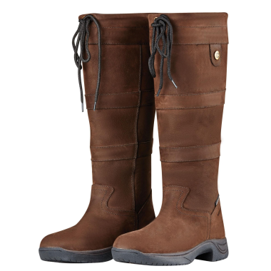 Dublin River Boots III (Black, Chocolate or Dark Brown)-Wide Calf