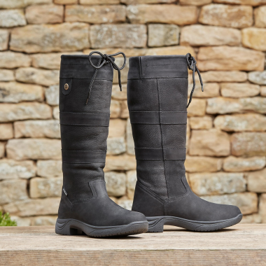 Dublin River Boots III (Black, Chocolate or Dark Brown)-Extra Wide Calf