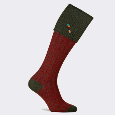 Pennine Dartmoor Men's Shooting Sock-Hunter