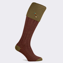 Pennine Dartmoor Men's Shooting Sock-Old Sage