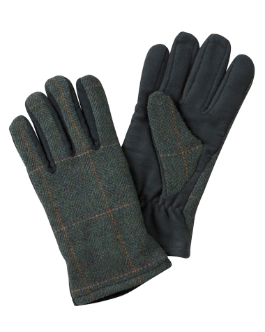 Hoggs of Fife Sherborne Ladies Lambswool Tweed/Moleskin Gloves