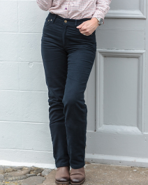 Hoggs of Fife Ladies Straight Leg Stretch Moleskin Jeans