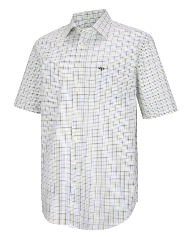 Muirfield Short Sleeve Shirt-Olive/Navy Check