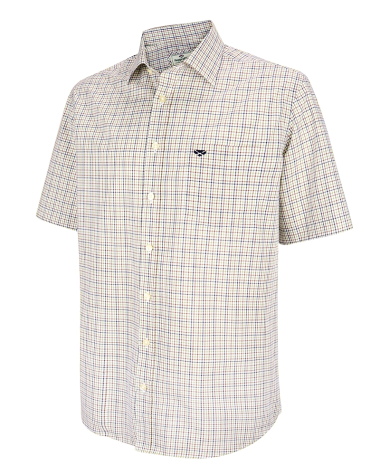 Muirfield Short Sleeve Shirt-Brown/Green Check