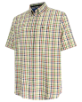 Aberdour Short Sleeve Checked Shirt-Gold