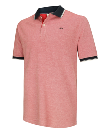 Kinghorn Polo Shirt-Contrast Red