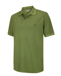 Anstruther Washed Polo Shirt-Olive