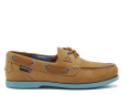 Pippa II G2 - Tan/Turquoise Boat Shoes