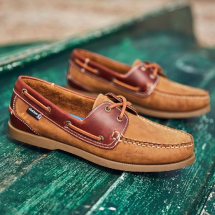 Bermuda II G2 - Walnut/Seahorse Leather Boat Shoes-Mens