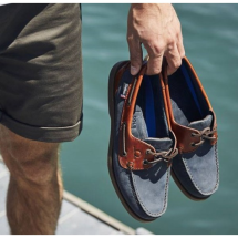 Bermuda II G2 - Navy/Seahorse Leather Boat Shoes-Mens