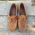 The Deck II G2 Premium Leather Boat Shoes-Mens-Walnut