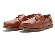 The Deck II G2 Premium Leather Boat Shoes-Mens-Chestnut