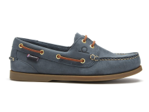 The Deck II G2 Premium Leather Boat Shoes-Mens-Navy