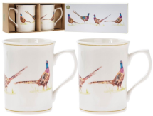 2 Pheasant China Mugs