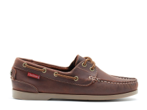 Willow - Dark Brown Leather Boat Shoes-Brown