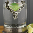 English Pewter Stag Single Hiball Spirit Glass