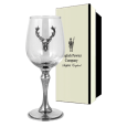 English Pewter 350ml Stag Single Wine Glass