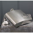 English Pewter 6oz Stainless Steel Hip Flask