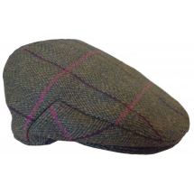 Girls Tweed Cap in Olive