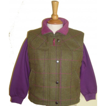 Girls Tweed Gilet