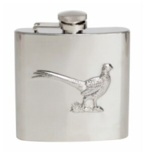 Hip Flask 6oz Pheasant Design