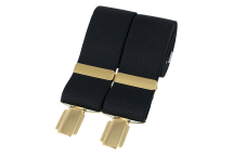 Dalaco Black Plain Braces 35mm gold clip