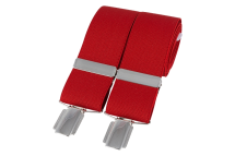 Dalaco Red Plain Braces 35mm silver clip
