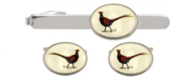 Dalaco Pheasant Cufflink and Tie Clip Set
