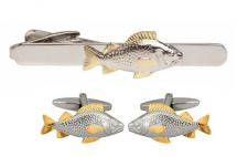 Dalaco Fish Cufflinks and Tie Clip Set