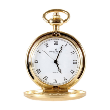Dalaco Gold Brushed Quartz Full Hunter Pocket Watch