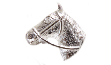 Horse Head Sterling Silver Tie Tac