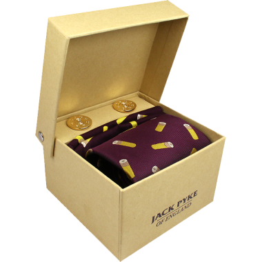 Jack Pyke Tie, Hanky and Cufflinks Gift Set - Cartridge