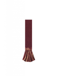 HOUSE OF CHEVIOT Garter Ties ~ Burgundy/Camel