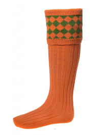 HOUSE OF CHEVIOT Chessboard-Burnt Orange