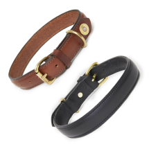 Hicks and Hides Laverton Field Dog Collar-Tip-LARGE COGNAC