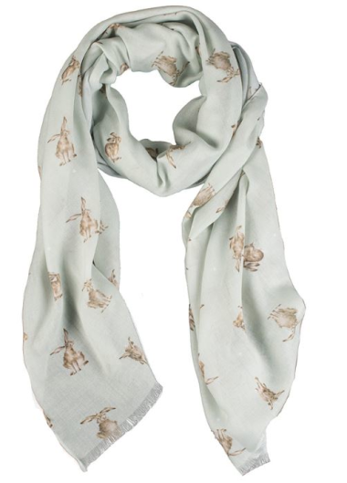 Leaping Hare Scarf by Wrendale