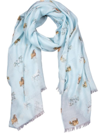 'Feather and Forelocks' Scarf by Wrendale