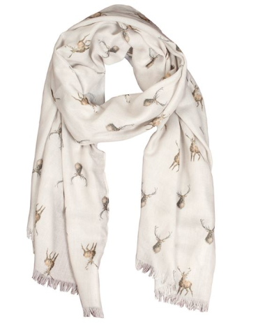 'Wild at Heart' Stag Scarf by Wrendale