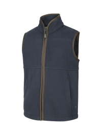 Hoggs of Fife WOODHALL JUNIOR FLEECE GILET-NAVY